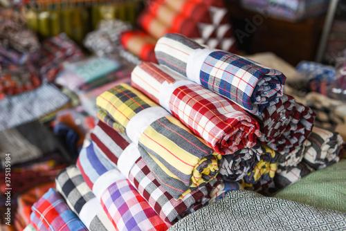 loincloth Thai design handicraft - Loincloth fabric traditional made from Thaila Wallpaper Mural