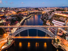 Aerial Cityscape Of Porto And ...