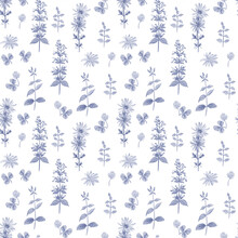 Seamless Pattern With Meadow F...