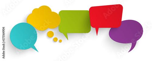 sticker speech bubbles with shadow Billede på lærred