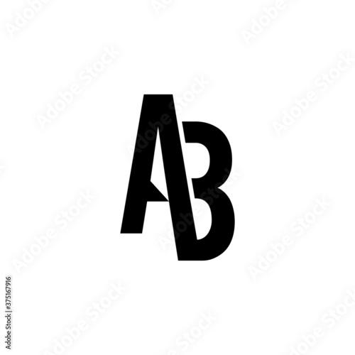 Photographie latter AB  icon logo design.