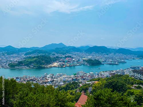 Fototapeta 尾道から見えるしまなみ海道の風景