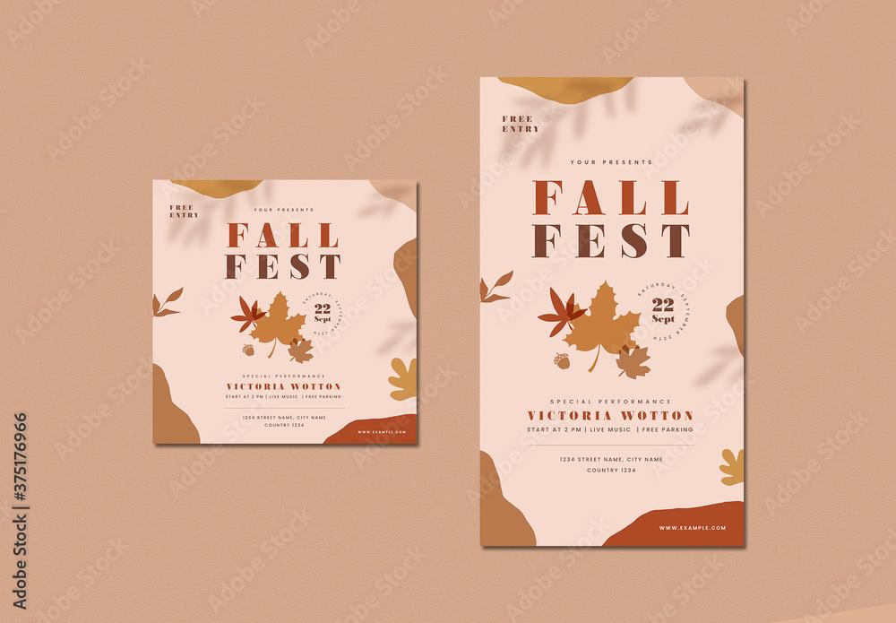 Fototapeta Fall Festival Social Media Posts