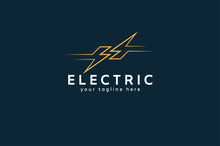 Electric Logo, Abstract Letter...