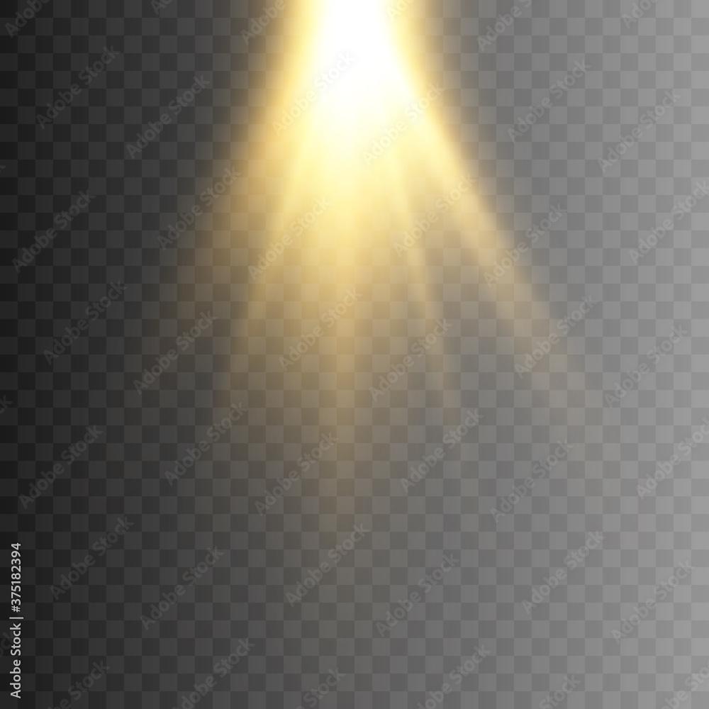 Fototapeta This illustration depicts light, lighting. The illustration is drawn on a checkered background. - obraz na płótnie