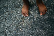 African-American Girl's Feet