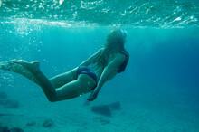 Underwater Photo Of Woman In B...