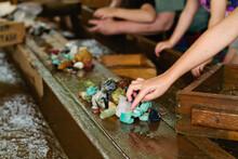 People Mining For Gemstones