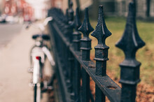 Wrought-iron Fence With Blurred Background
