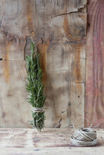 Rosemary Twigs With Twine