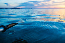 Ripple In The Ocean At Sunset ...