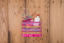 Colorful Pencil Bag Ready To Go Back To School