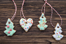 Homemade Christmas Cookies Hangers For Tree Decoration