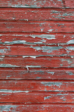 Weathered Red-painted Wall
