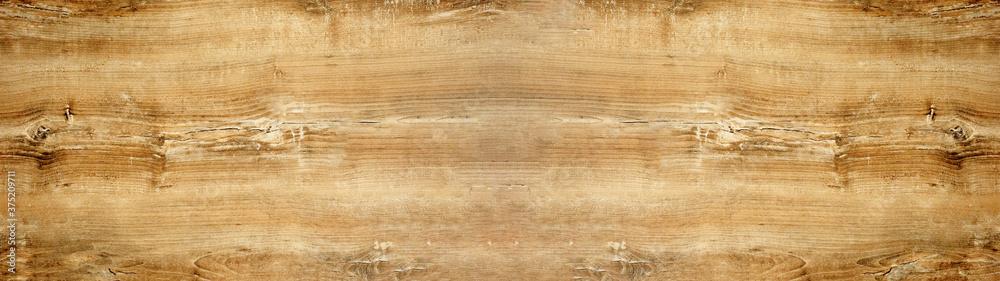 Fototapeta old brown rustic light bright wooden oak texture - wood background panorama banner long