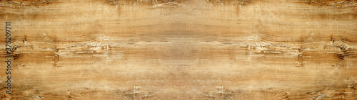 Fotografiet old brown rustic light bright wooden oak texture - wood background panorama bann