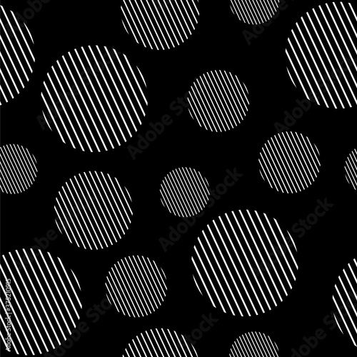 Tapeta czarna  white-circles-stripes-pattern