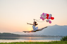 Ballet Dancer With Balloons