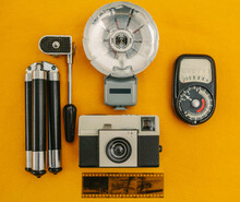 Vintage Camera And Accessories.