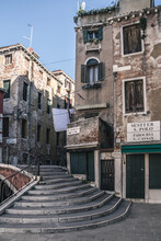 Streets And Alleys With Traditonal Buildings In Venice
