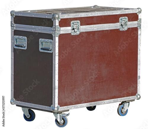 heavy-duty case for fragile equipment on white Fototapet