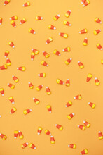 Halloween: Overhead Candy Corn Background