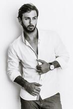 Handsome Male Fashion Model