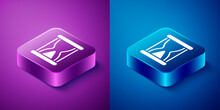 Isometric Old Hourglass With F...
