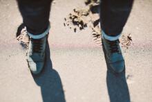 Boots On Beach