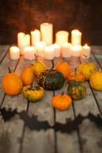 Halloween Pumpkins And Paper B...