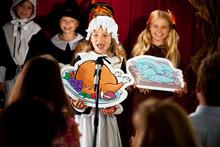Thanksgiving: School Children Putting On Thanksgiving Play