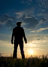Silhouette Of Man Standing In ...