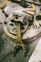 Piston With Engine Parts