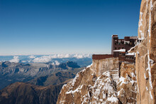Upper Station Viewpoint At Aiguille Du Midi In The Mont Blanc Massif Mountain Range