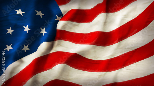 flag of usa Fototapeta