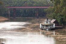 Historic Paddle Steamer With S...