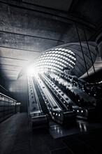 People On Escalator In The Sub...