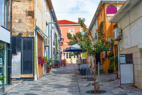 Fototapety, obrazy: Street restaurants souvenir shops Cyprus