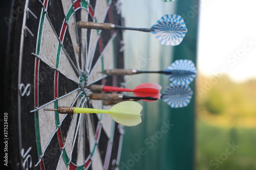 Slika na platnu Darts target closeup