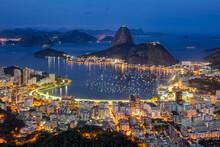 Dawn At Guanabara Bay In Rio De Janeiro.