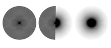 Radial Burst Lines Circular Element Or Background. Starburst Or Sunburst Graphics As Icon Or Logo.