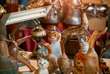 Vintage Wooden Cats,  Porcelai...