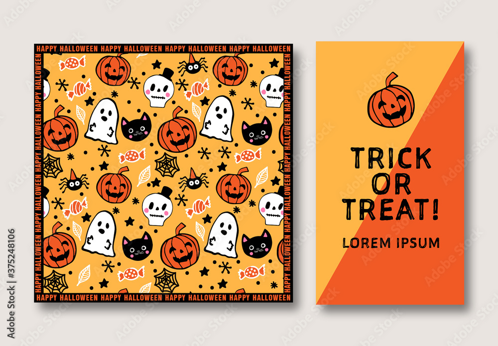 Fototapeta Halloween Social Media Set