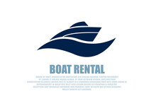 Vector Of A Stylish Boat Renta...
