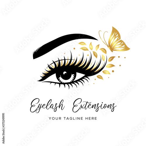 Carta da parati Eyelash extension logo