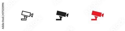 Fotografía CCTV, simple icon set