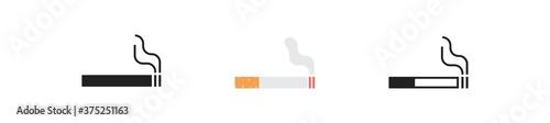 Cigarette, simple icon set Fototapet