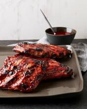 Sticky Pork Ribs With Cranberr...