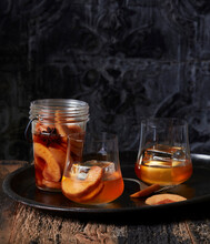 Brandy Infused With Plums And Cardamom