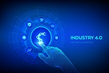 Smart Industry 4.0 Concept. Fa...